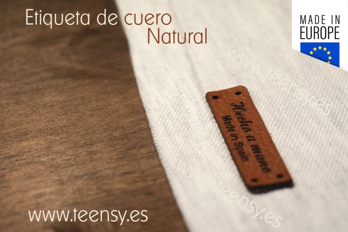 lather label - hand made - Made in Spain